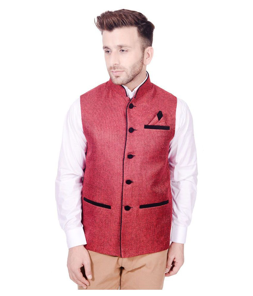 Lee Marc Red Party Waistcoats