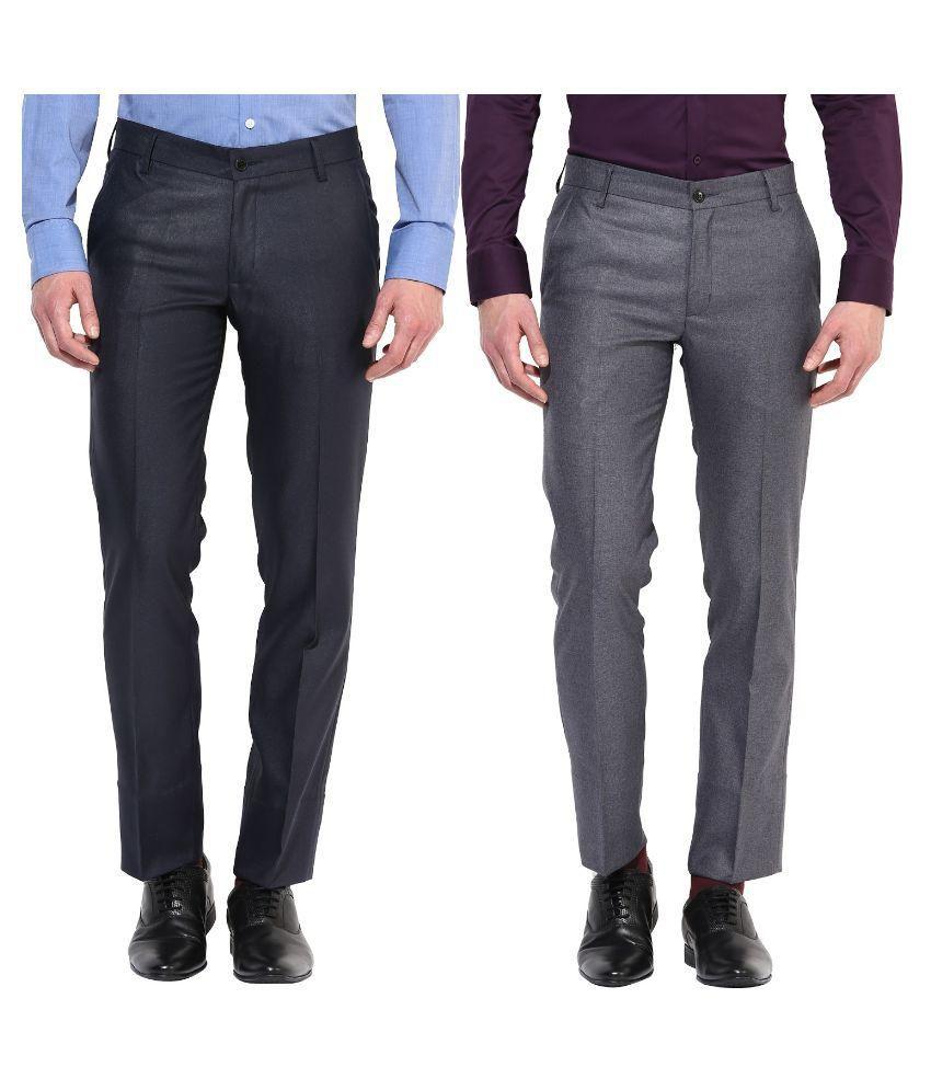 BUKKL Multi Regular Flat Trouser