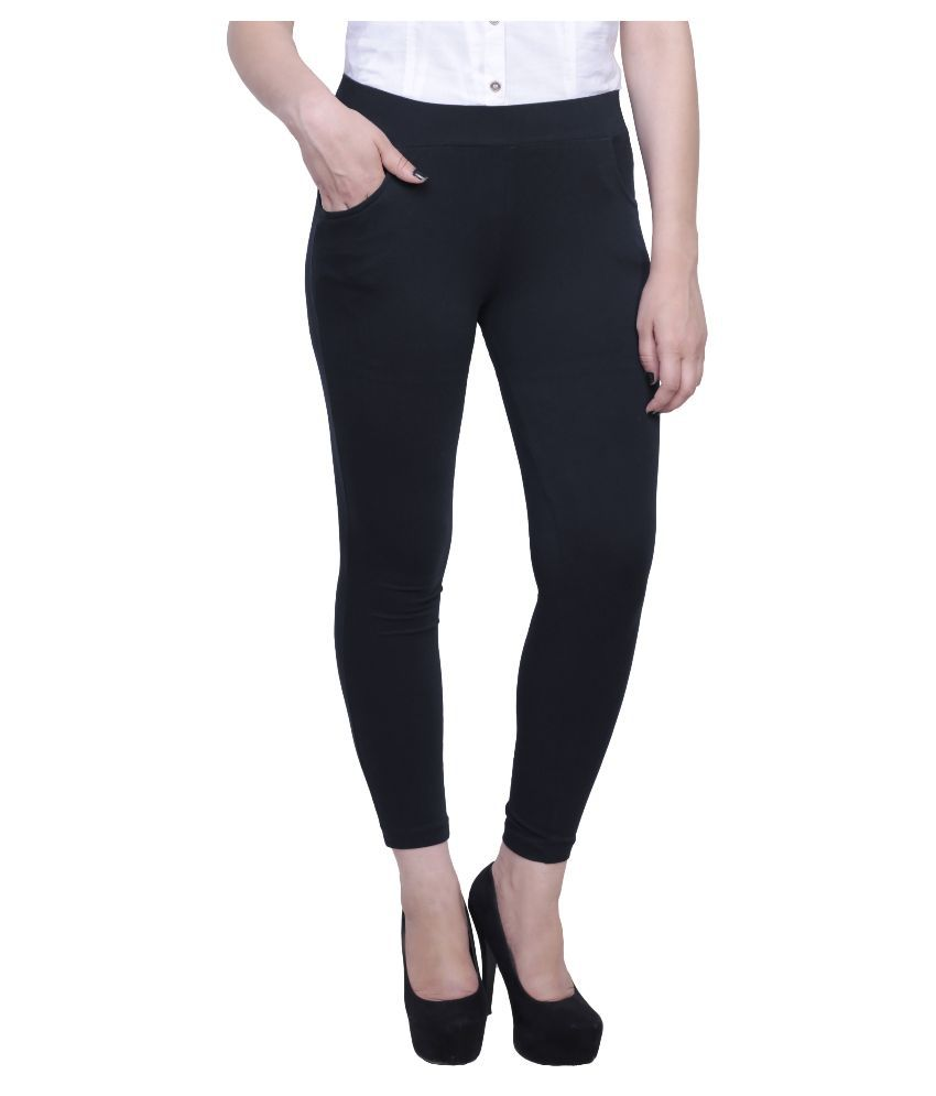 79a8a211ea9d9 Buy Faded Finch Black Jeggings Skinny Online at Best Prices in India -  Snapdeal