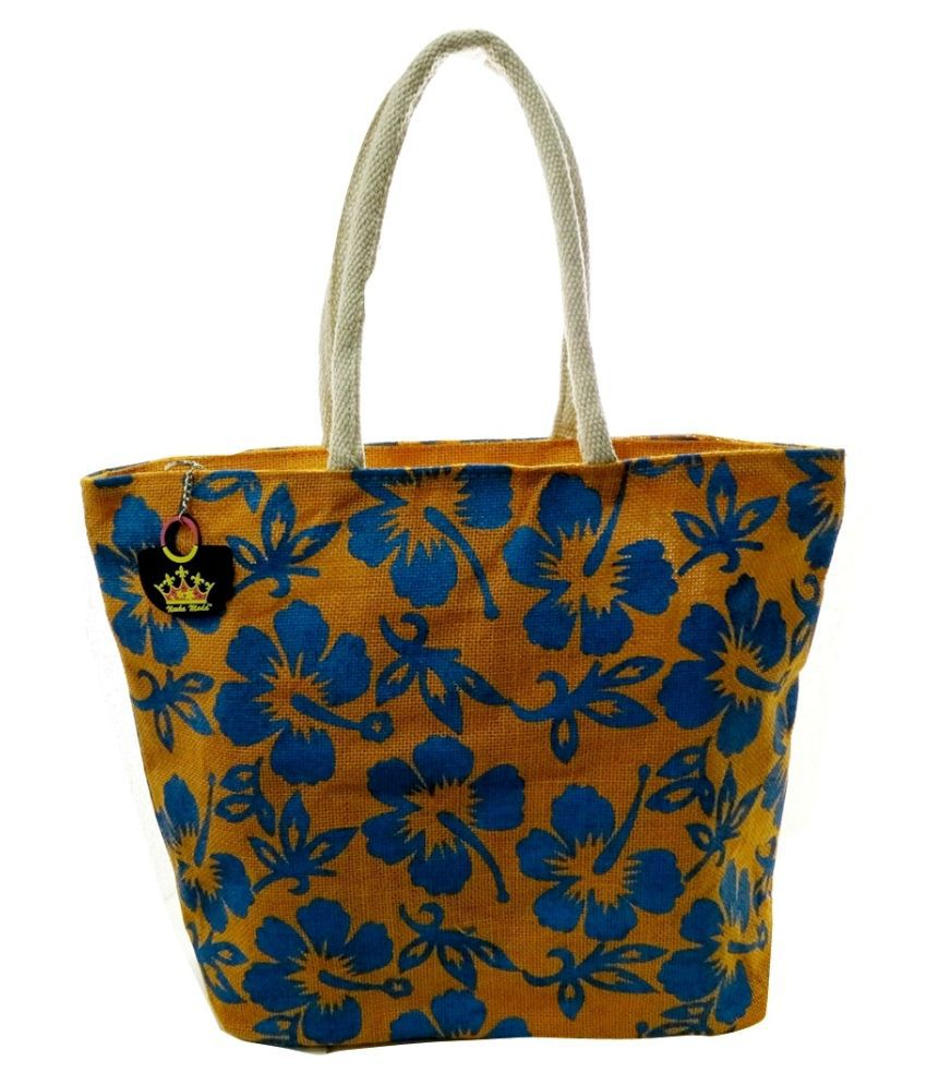 Neska Moda Yellow Shopping Bags
