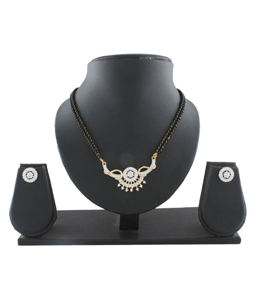 Anuradha Art Golden Alloy Mangalsutra Set