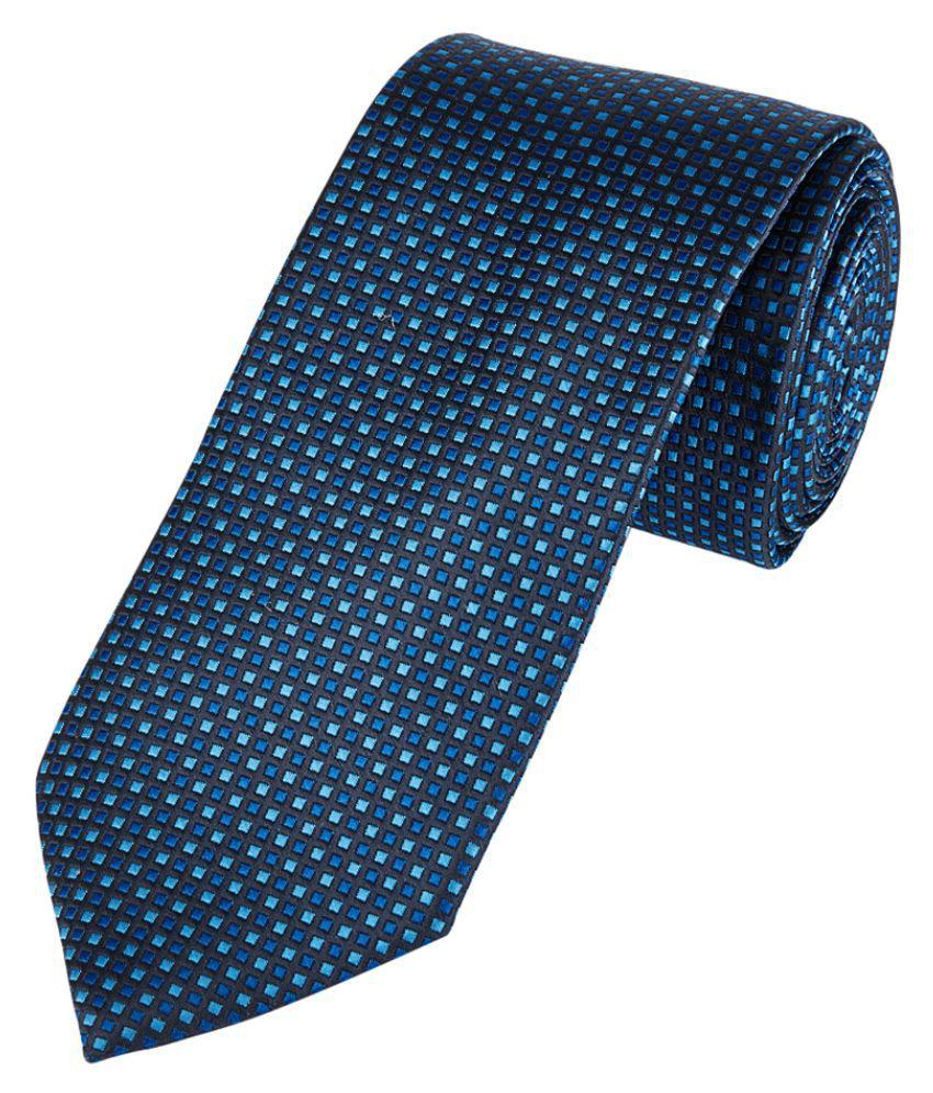 Park Avenue Blue Polyester Broad Tie