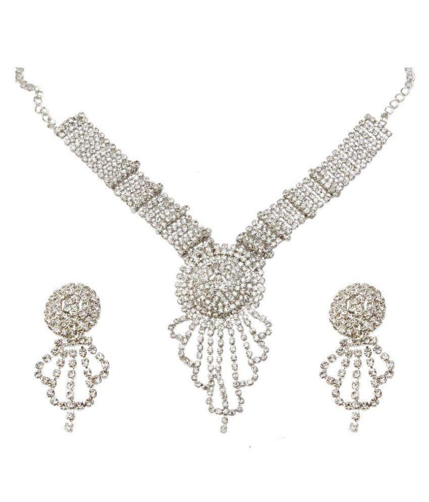 Prizeta Silver Necklace Set