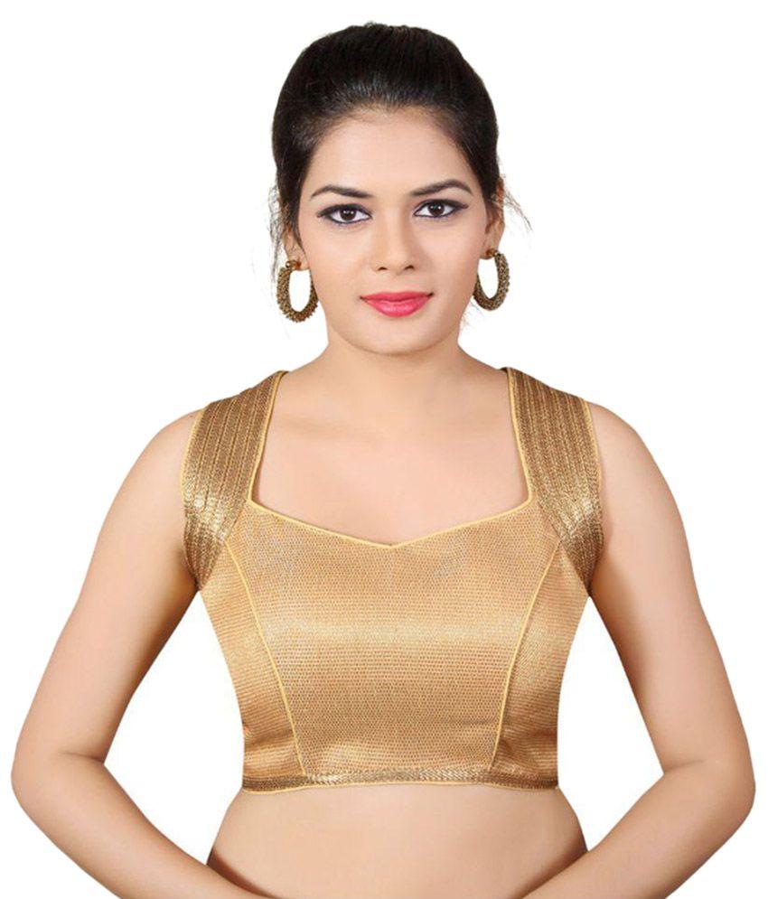 Atulya Designer Blouse Gold Brocade Blouses