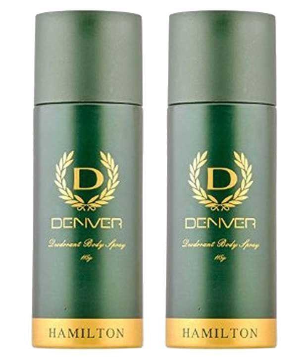 Denver Hamilton Deodorant Body Spray 165 Ml Pack Of 2: Buy