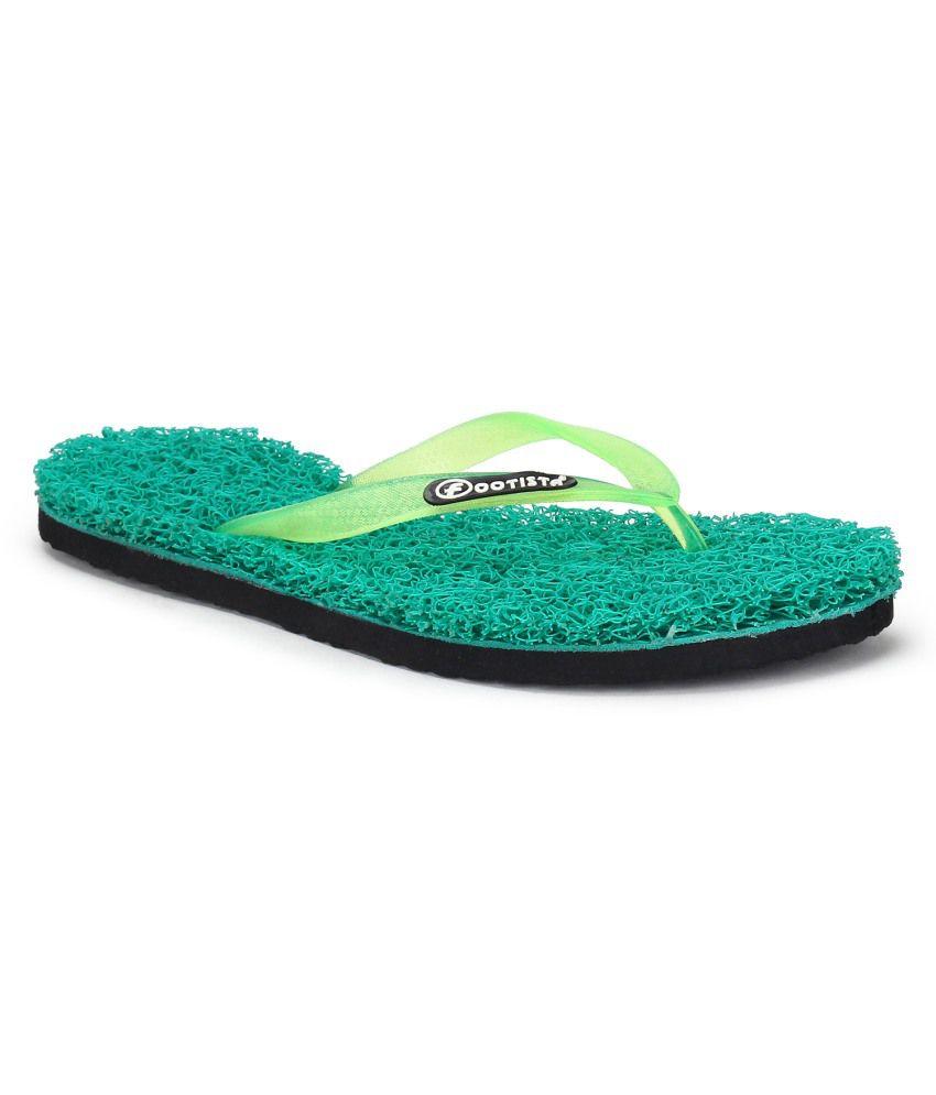 Footista Green Flip Flops