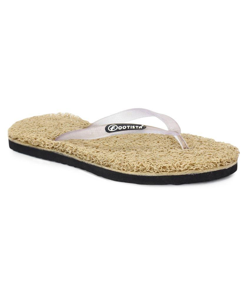 Footista Beige Flip Flops