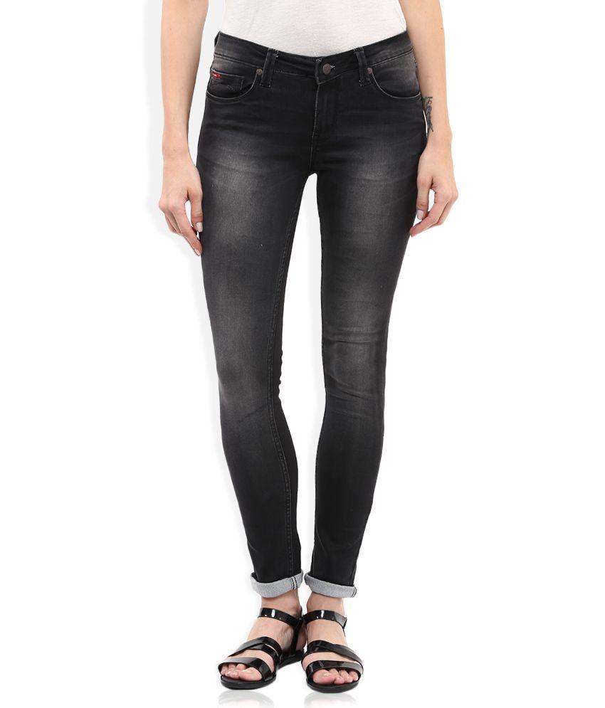 buy lee cooper black slim fit faded jeans online at best