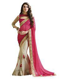 Laxmi Fashion Pink Net Saree