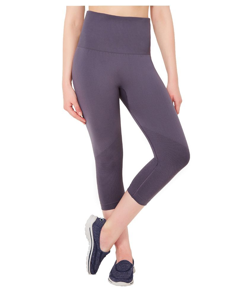 1a31c380ff52d Buy Amante Gray Nylon Capris Online at Best Prices in India - Snapdeal