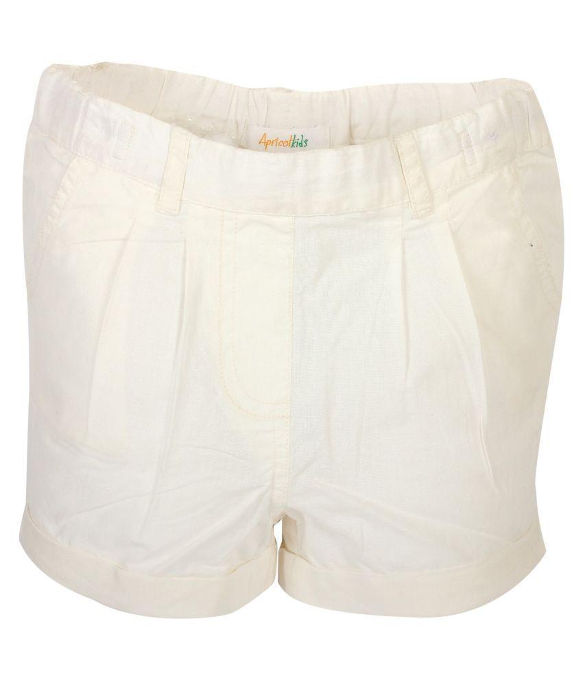 Apricot Kids White Shorts for Girls