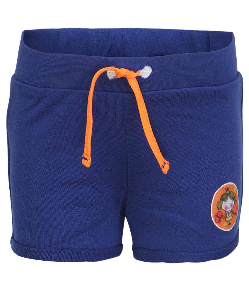 Little Kangaroos Blue Cotton Shorts
