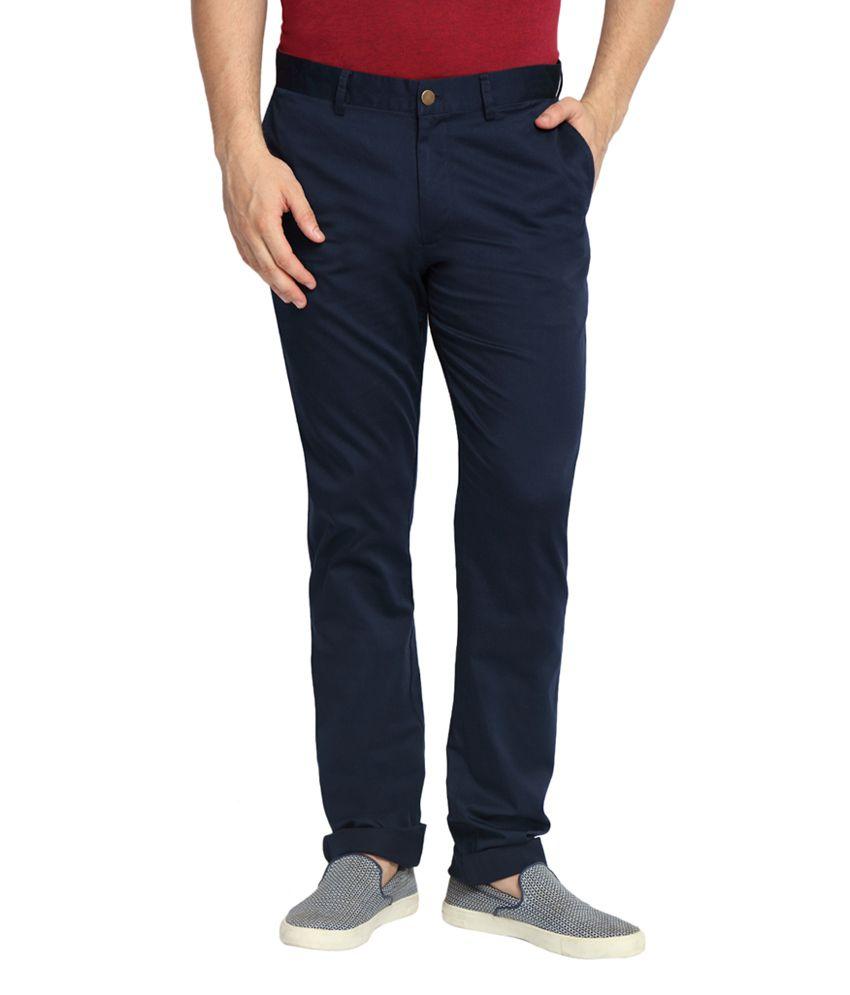 SUITLTD Navy Blue Slim Fit Chino Pants