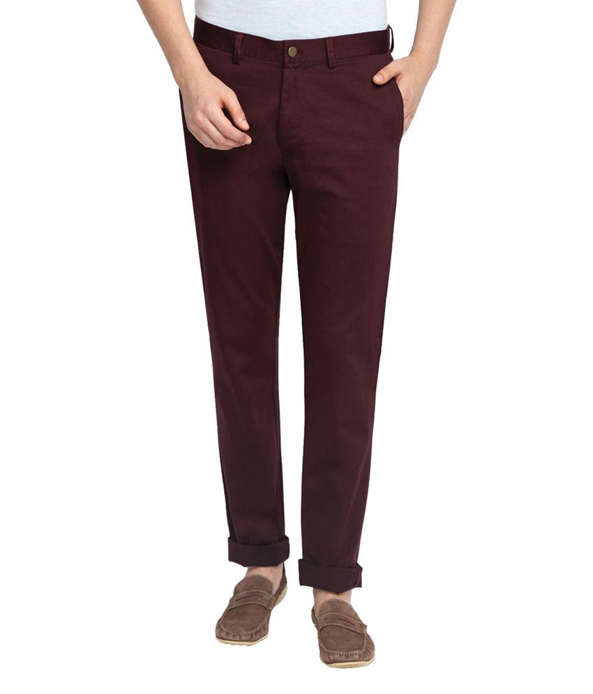 SUITLTD Maroon Slim Fit Chino Pants