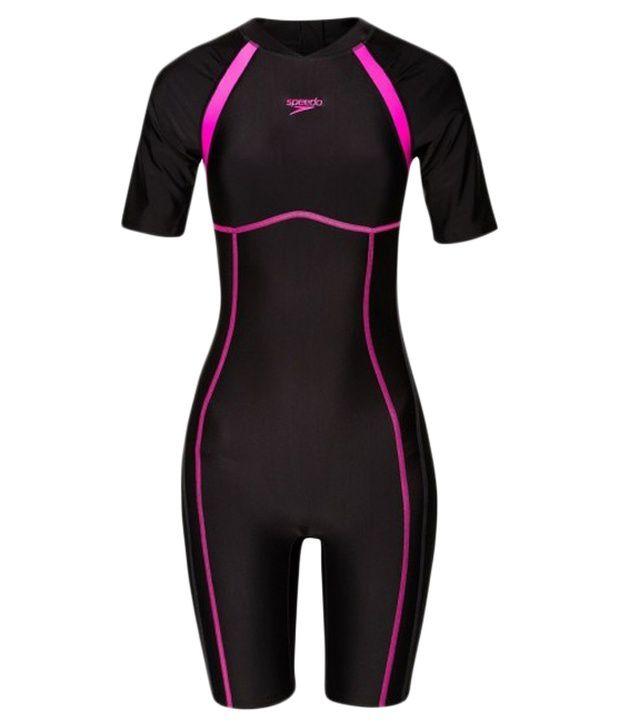 Speedo Black Essential Spliced Knee Suit