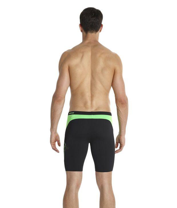 a8b7721c24 Speedo Black Logo Graphic Splice Jammer Men Swimwear/ Swimming Costume: Buy  Online at Best Price on Snapdeal