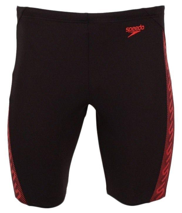 Speedo Black Monogram Swimming Endurance - Jammer Swimwear/ Swimming Costume