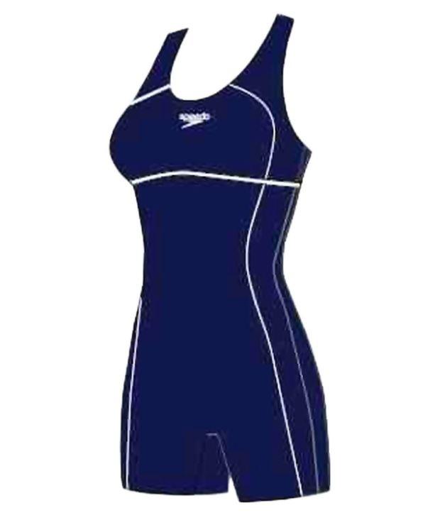Speedo Blue Womens Classic Leg Suit