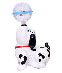 Dream Deals White Plastic Lighting Dancing Dog