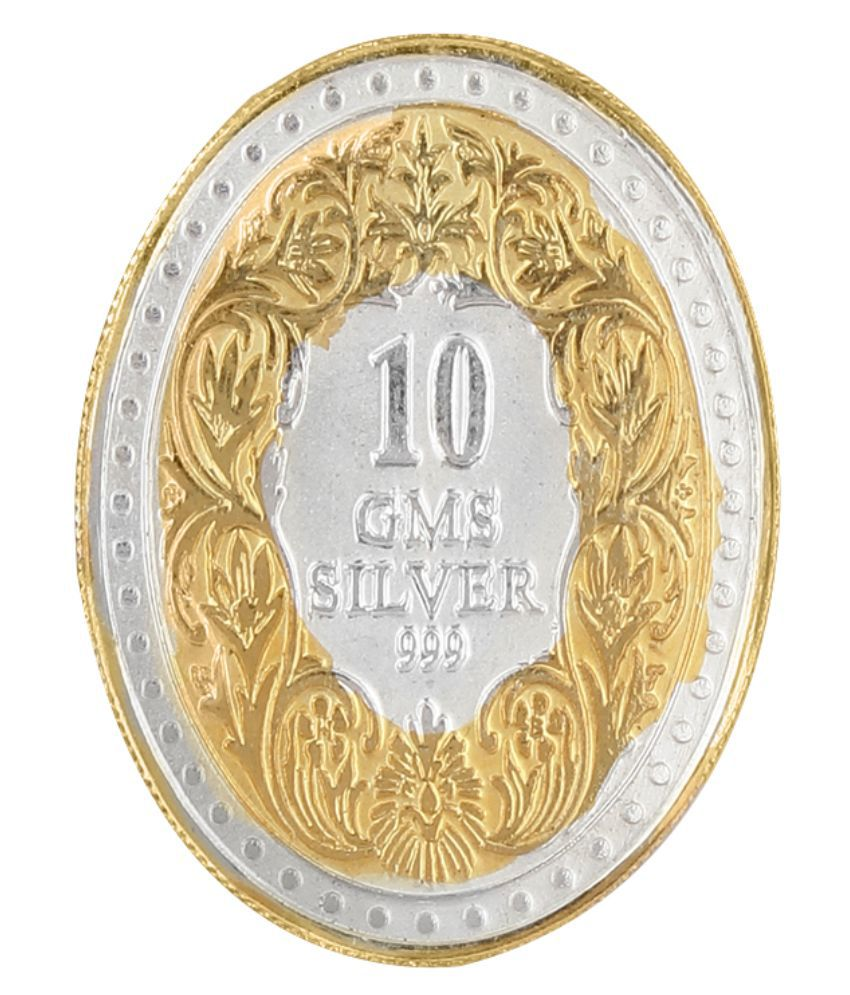 Jewel99 10 Gm Silver Coins 999 Purity Antique Silver Coin