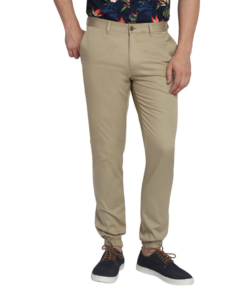SUITLTD Beige Extra Slim Fit Twill Chino Joggers