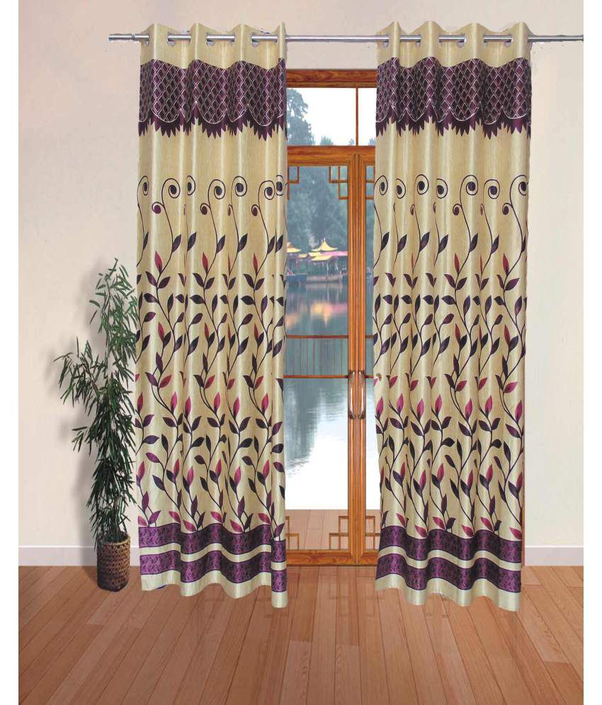 Kanika Home Decor Set Of 2 Door Eyelet Curtain Floral