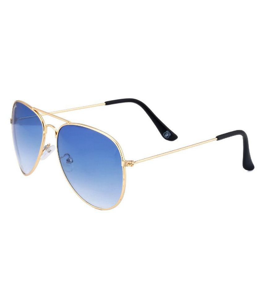 Whay Blue Aviator Sunglasses ( WS052 )