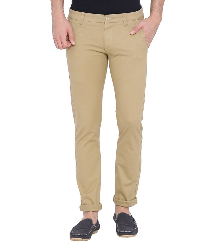 Bandit Khaki Slim Fit Chinos