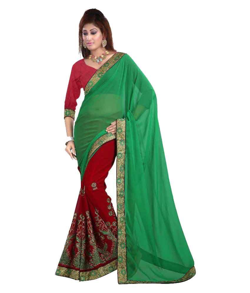 Luga Multicoloured Chiffon Saree