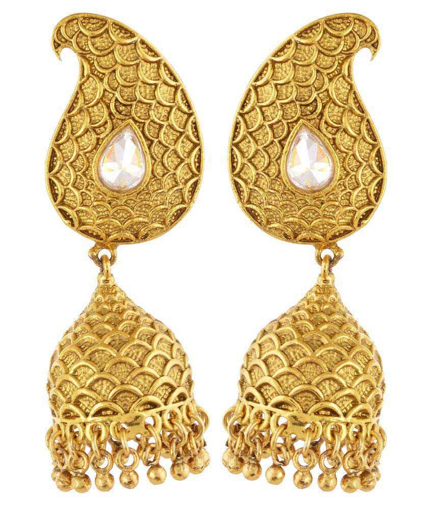 Gorigama Golden Jhumkis