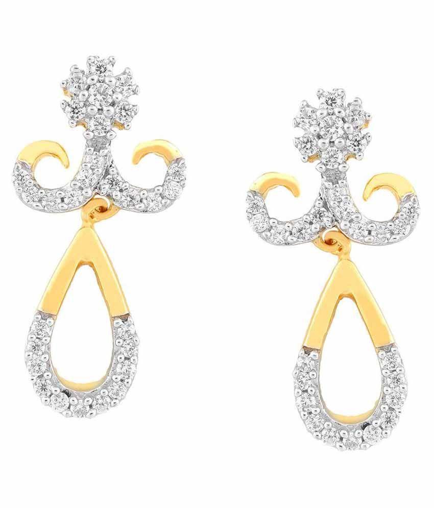 Nakshatra 18kt BIS Hallmarked Yellow Gold Diamond Drops