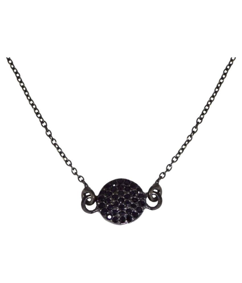 Shine Jewel 92.5 Silver Spinel Pendant Necklace Set
