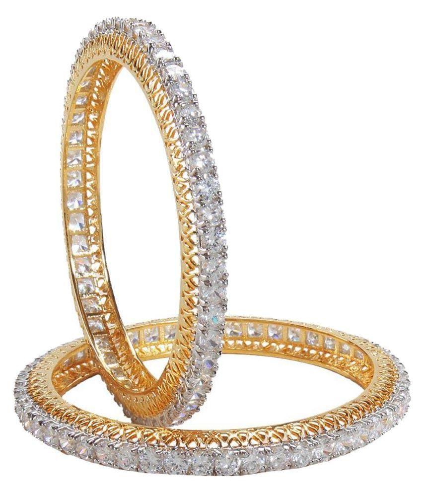 AVS Diamonds Golden Bangle - Set of 2