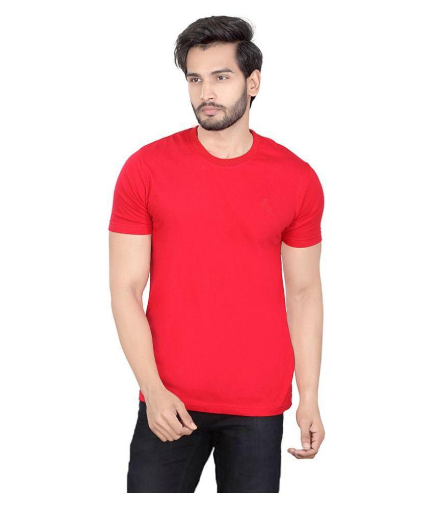 LUCfashion Red Round T Shirt
