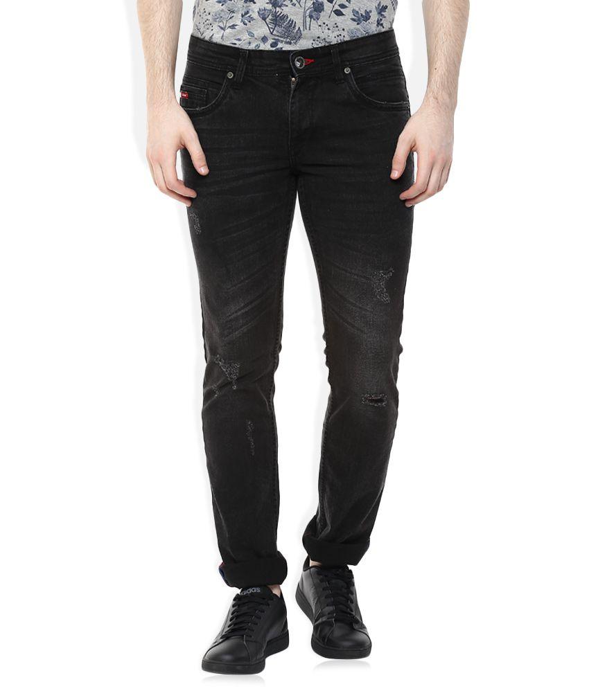 548e08221af93 Lee Cooper Black Slim Fit Jeans - Buy Lee Cooper Black Slim Fit Jeans  Online at Best Prices in India on Snapdeal