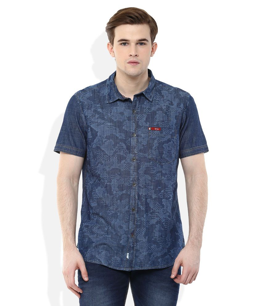 3dcd316a Lee Cooper Navy Blue Printed Regular Fit Casual Shirt - Buy Lee Cooper Navy  Blue Printed Regular Fit Casual Shirt Online at Best Prices in India on  Snapdeal