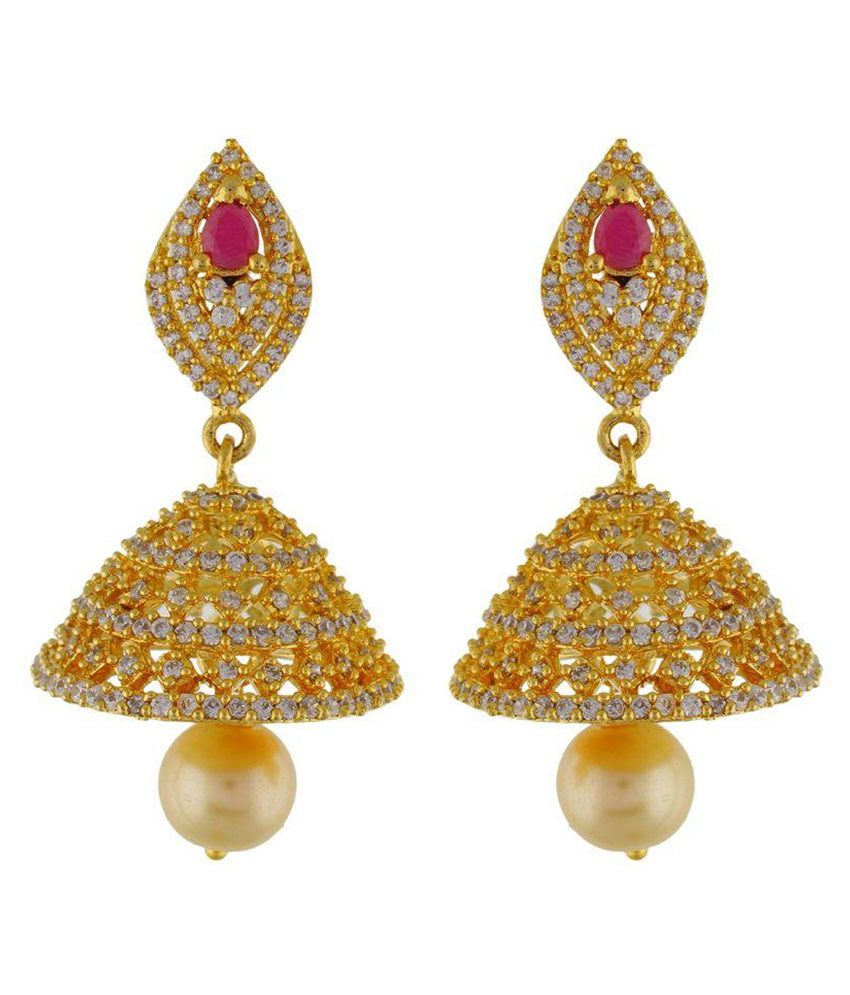 OSF Golden Alloy Jhumkis