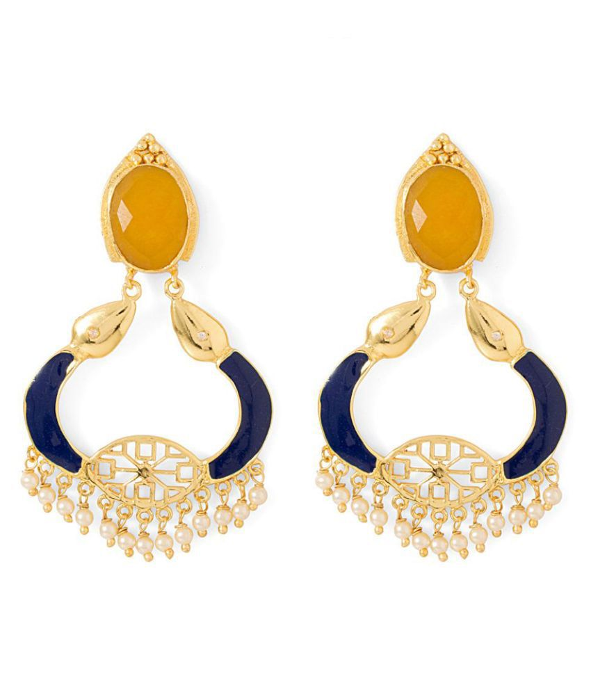 Voylla Multicolour Chandeliers Earring