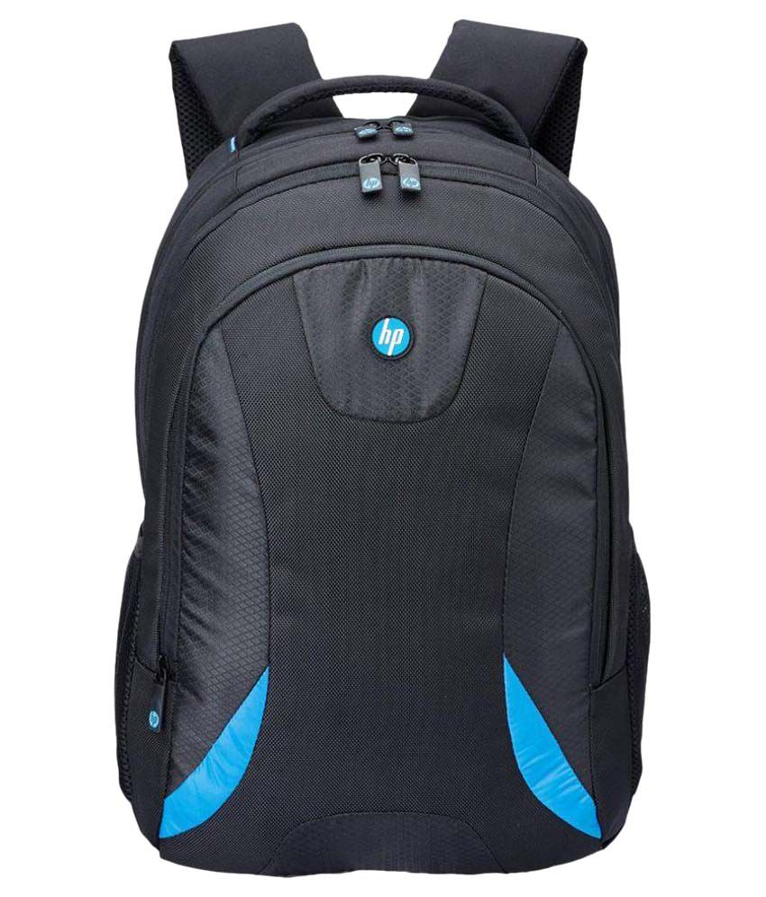 HP HP001 Black Polyester Casual Backpack