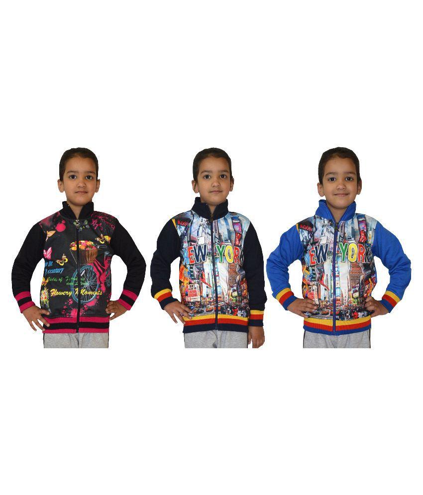 Shaun Multicolor Wollen Sweatshirts - Pack of 3