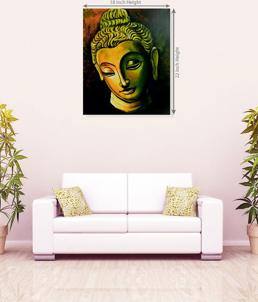 Sky Trends Lord Buddha Model Canvas Painting