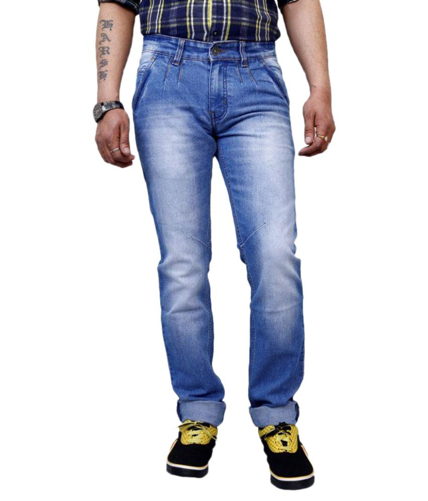3 Concept Blue Slim Fit Faded Jeans