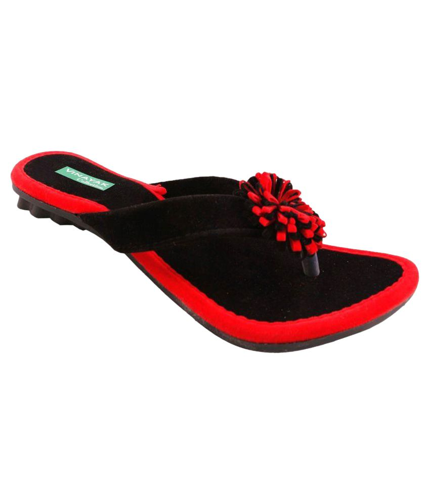 Vinayak Collection Black Flats