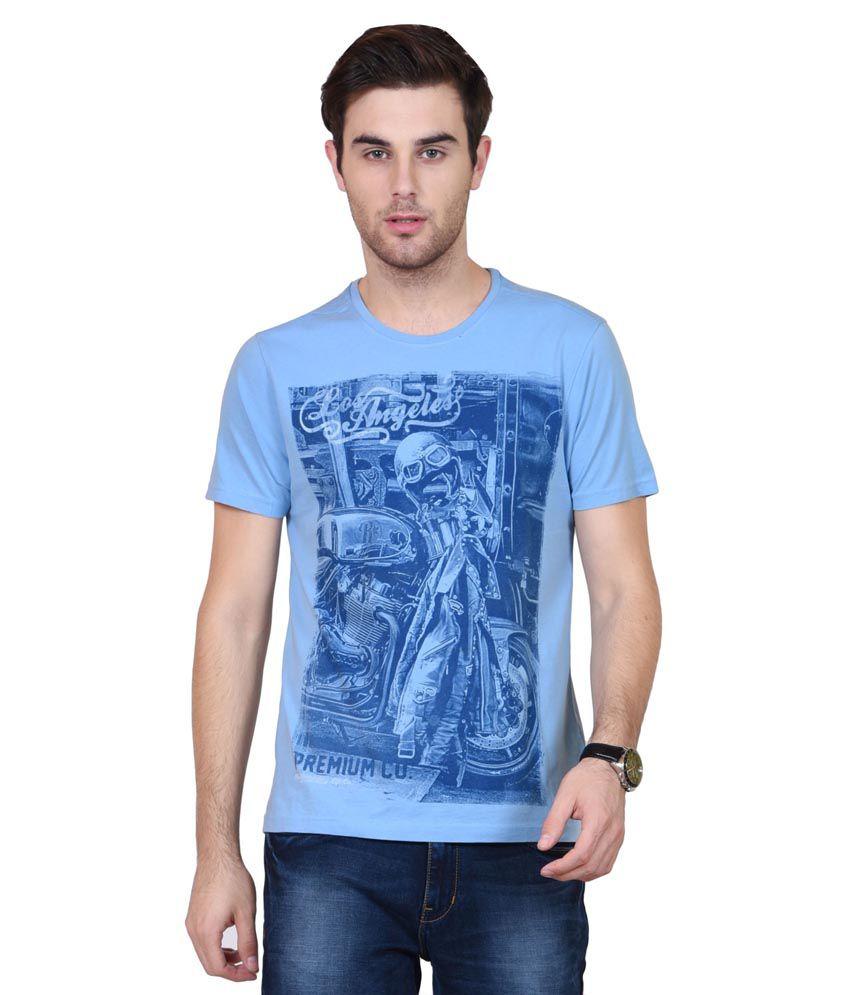 Habitude Blue Round T Shirt
