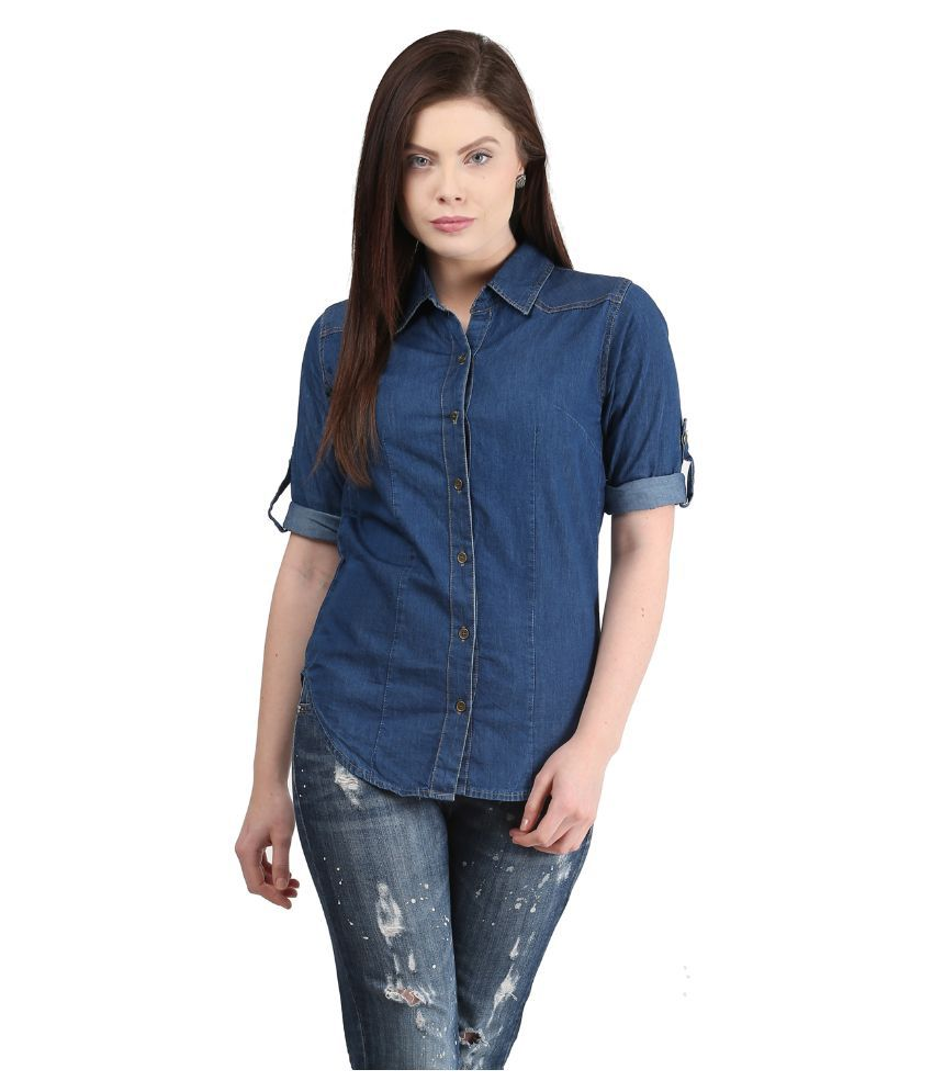 Buy mayra denim shirt online at best prices in india for Buy denim shirts online