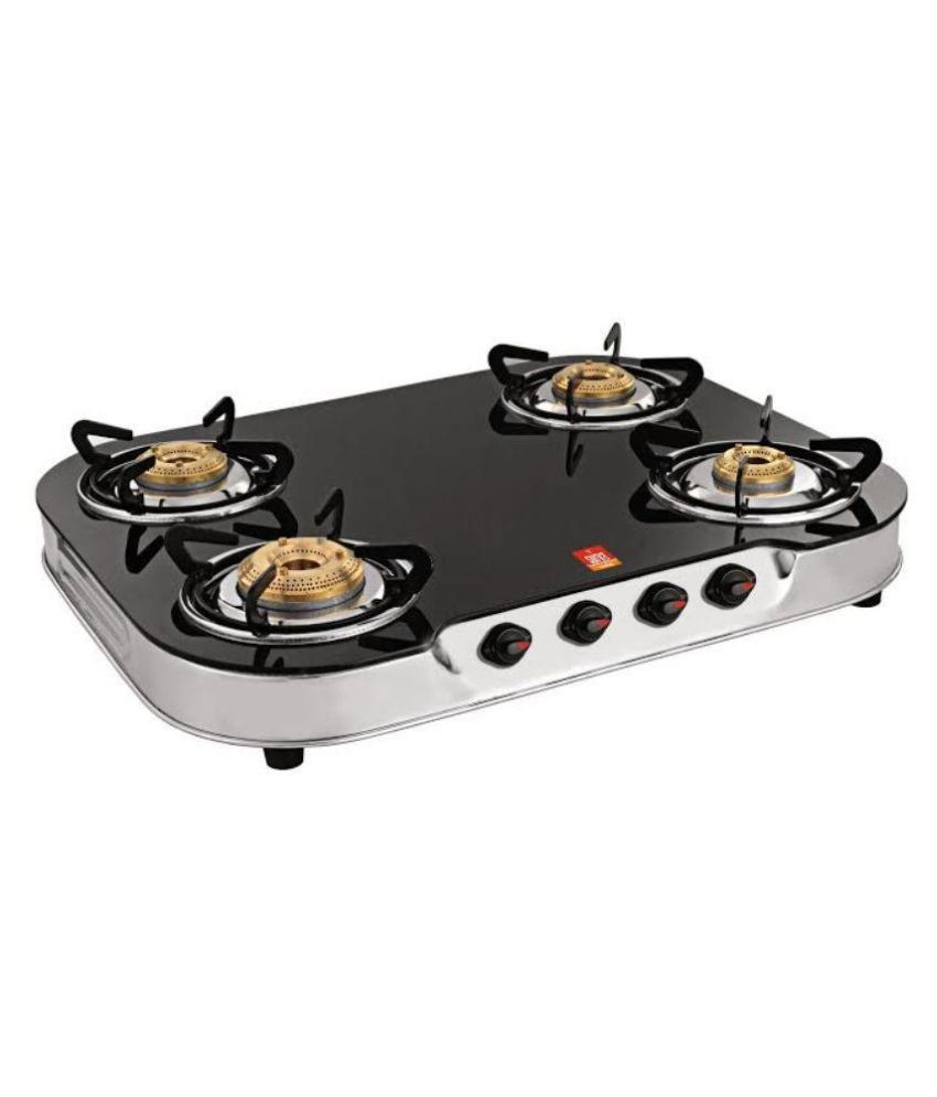 Surya Shine SUR624PBB Manual Gas Cooktop (4 Burner)
