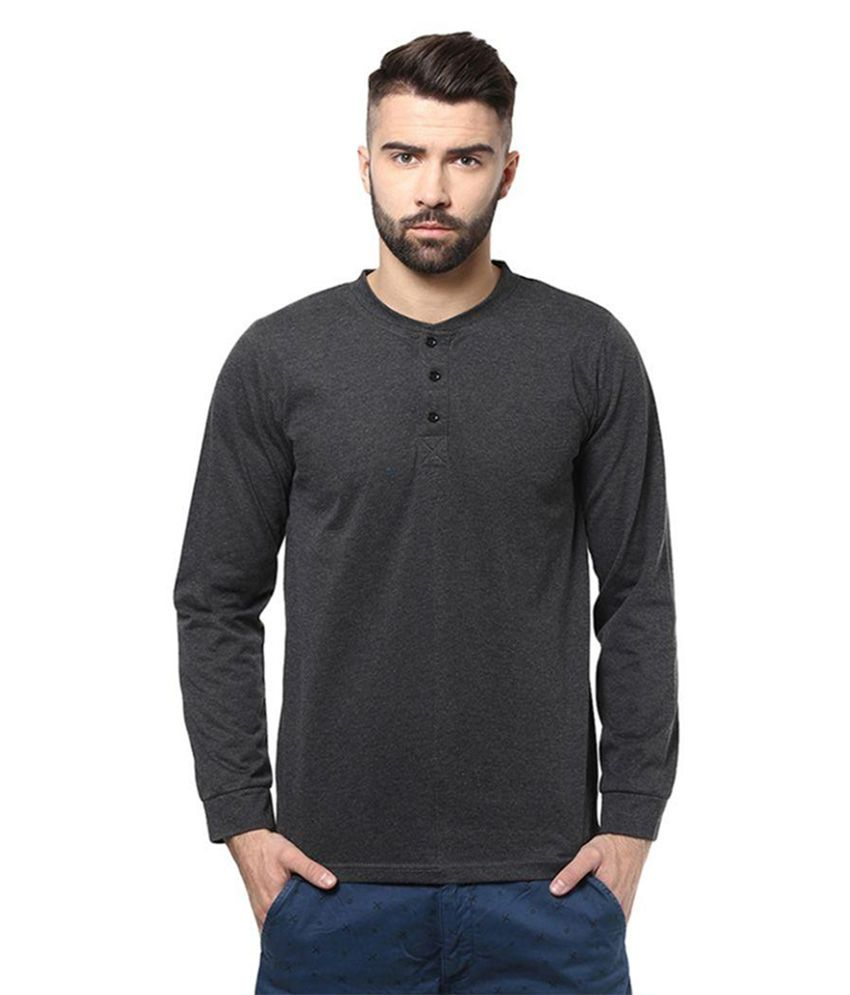 Unisopent Designs Black Henley T Shirt