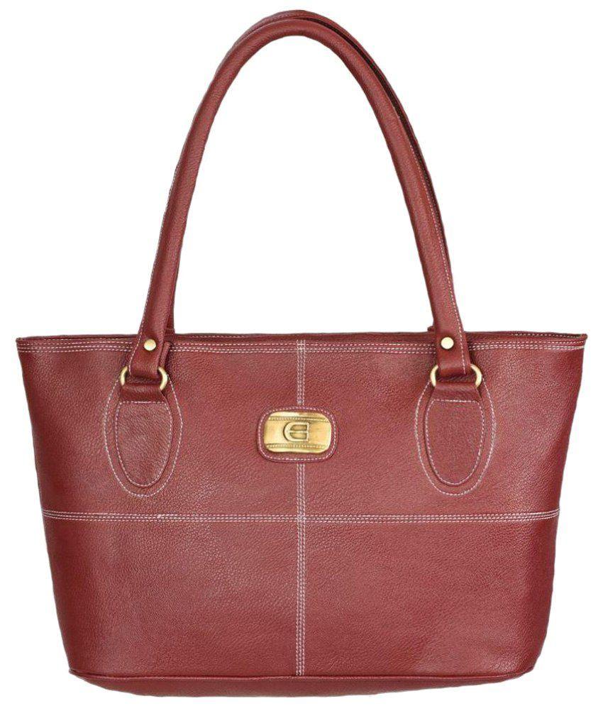 Fantosy Brown Synthetic Shoulder Bag