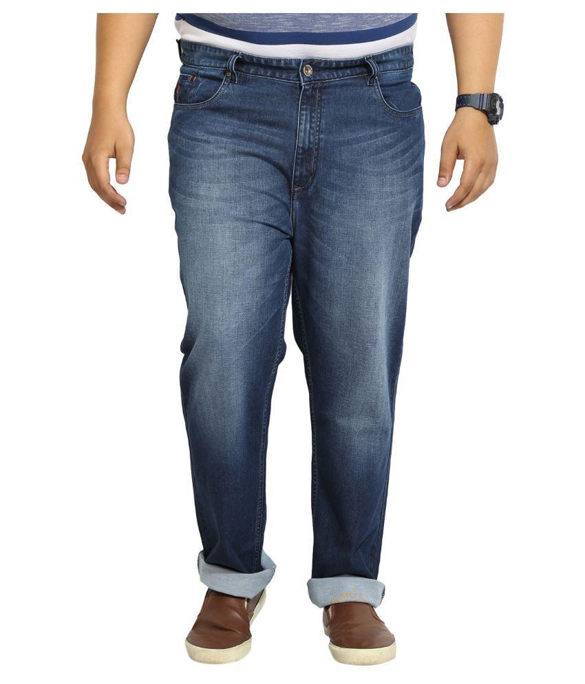 John Pride Blue Regular Fit Faded Jeans