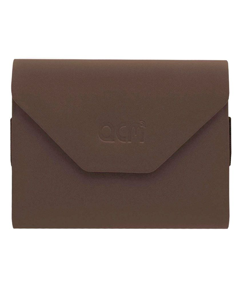 Acm Pouch Case For Iball Slide Q40i Cover - Brown